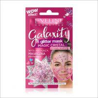 Eveline galaxity glitter pink maska za lice 10ml