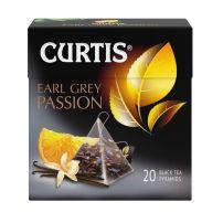 Curtis Earl Grey Passion - Crni čaj sa korom citrusa, laticama cveća i aromom bergamot-vanila, 34 gr