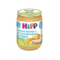 Hipp kukuruz šećerac sa pire krompirom i ćuretinom kašica 190 gr
