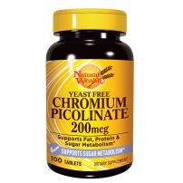 Natural Wealth Hrom pikolinat, 100 tableta