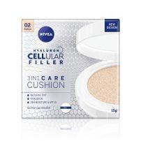 NIVEA Hyaluron Cellular Filler 3u1 Cushion za negu lica – medium nijansa 15g