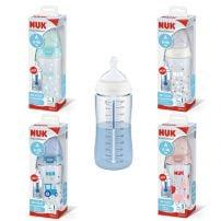 Nuk FC+ Flašica plastična 300ml silikon 0-6 meseci, sa indikatorom temperature