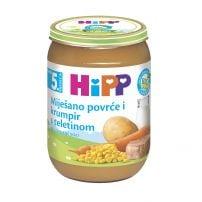 Hipp BIO kašica - Mešano povrće i krompir sa teletinom 190g