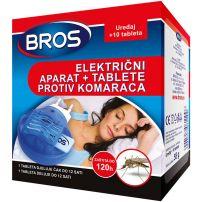 Bros električni aparat + Tablete protiv komaraca 10 komada