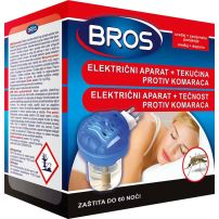 Bros električni aparat + tečnost protiv komaraca 60 noći 40ml