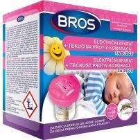 Bros električni aparat + Tečnost protiv komaraca za decu 60 noći, 40ml