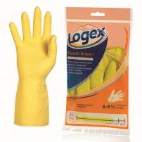 Logex gumene rukavice, sa pamučnom postavom, veličina S