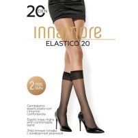 Innamore  Elastico 20 Nero ženske dokolenice