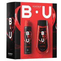 BU Heartbeat set (dezodorans u spreju + gel za tuširanje)