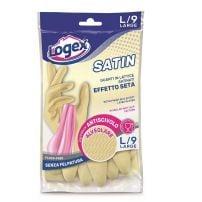 Logex Satin gumene rukavice sa pamucnom postavom (L)