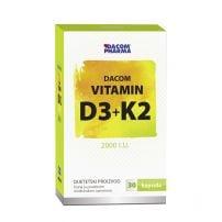 Vitamin D3 vit 2000 IU+K2 cps A30