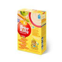 Baby King Premium Pirinčano-kukuruzne cerealije bez saharoze sa adaptiranim mlekom, jabukom, šargarepom i prebioticima obogaćene vitaminima i mineralima