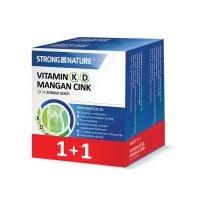 Paket Vitamin K D Mangan Cink, 30 kapsula 1+1 gratis