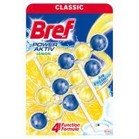 Bref Power Aktiv Lemon 4 funkcije WC osveživač 3 x 50  gr