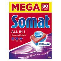 Somat All in one tablete za mašinsko pranje sudova 80kom