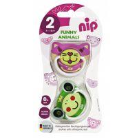 Nip Funny Animals silikonska laža 5-18meseci  2komada