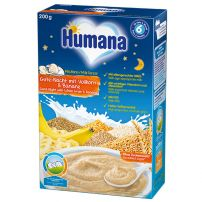 Humana mlečna kašica za laku noć sa celim zrnom žitarica i bananom 6+ 200g