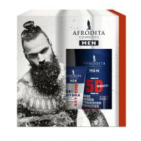 Afrodita Men Energy poklon set ( Sg 5D 250ml, After shave losion 120ml, krema za lice 20ml)