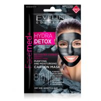 Eveline Facemed purifying with activated carbon hydra detox maska za lice 2x5ml